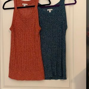 New York and company sweater tanks